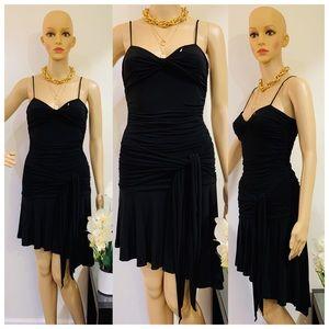 BCBG Black Rouched Mini Dress